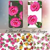 Telefon pokrywa z różami Zdjęcie Royalty Free