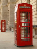 telefon pudełkowata czerwień Obrazy Stock