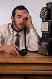 Telefon-Raserei Stockbild