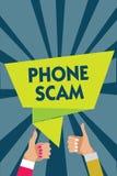 Telefon Scam för handskrifttexthandstil Begreppsbetydelse som får oönskade appeller att främja produkter eller den tjänste- Teles vektor illustrationer