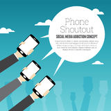 Telefon Shoutout Fotografia Stock