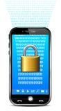 Telefon-Sicherheits-Konzept - schließen Sie Daten zu vektor abbildung