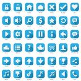 Telefon sieci ikony Internetowy Błękitny set royalty ilustracja