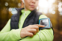 Telefon skrzynka dla biegacza obraz royalty free