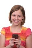 telefon som texting royaltyfri fotografi