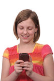 telefon som texting arkivbild
