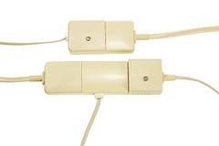 Telefon-Stecker und Sockel Lizenzfreies Stockbild