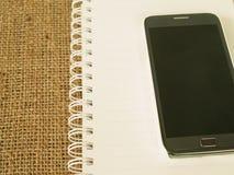 Telefon, Tagebuch Lizenzfreie Stockfotografie