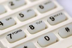Telefon-Tastaturblock lizenzfreie stockfotografie