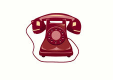 Telefon, telefono, icone. Fotografia Stock