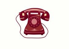 Telefon, telefoon, pictogrammen. Stock Fotografie