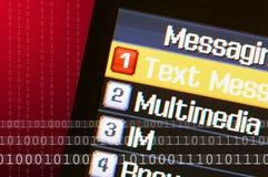 Telefon-Text-Meldung Stockfotos