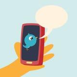 Telefon-Tweet Lizenzfreie Stockbilder