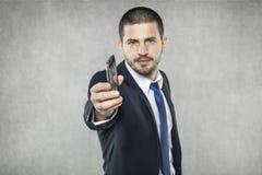 Telefon ty, biznesowy mężczyzna fotografia stock