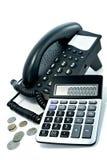 Telefon und der Rechner Lizenzfreies Stockbild
