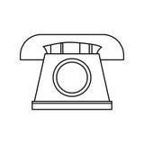 telefon vektorillustration över vit bakgrund Royaltyfria Bilder