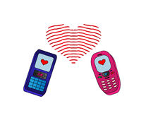 Telefon-verliebtes getrennt Stockbild