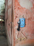 Telefon w kopalni węgla obrazy stock