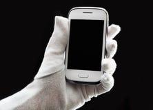 Telefon w ręce Fotografia Royalty Free