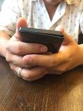 Telefon w ręce Obraz Stock