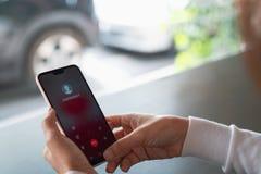 Telefon W Sprawie Nagłego Wypadku linii specjalnej sanitariusza Naglący Przypadkowy pojęcie obraz royalty free