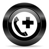 Telefon W Sprawie Nagłego Wypadku ikona Zdjęcie Stock