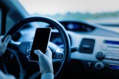 Telefon w sprawie nagłego wypadku use smartphone, Przeciwawaryjny pojęcie obraz stock