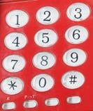 Telefon wybiera numer deska Fotografia Stock