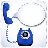 Telefon z nastroszoną tubką dla wiadomości Obraz Royalty Free