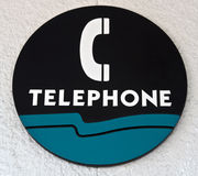 Telefon-Zeichen Stockbilder