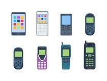 Telefona il vettore del dispositivo delle icone Immagine Stock Libera da Diritti