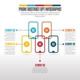 Telefonabstrakt begrepp väljer Infographic Arkivfoton