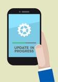 Telefonaktualisierung Stockbilder