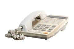 Telefonapparat auf Weiß Stockfotografie