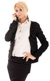 Telefonar da mulher de negócios fotografia de stock