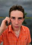 Telefonar do indivíduo fotos de stock