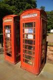 Telefonaskar för hyra Southport blom- stad Merseyside Royaltyfri Fotografi