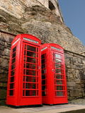 Telefonaskar i Edinburg, Skottland Arkivbild