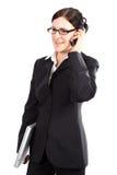 Telefonata del gestore femminile Fotografia Stock Libera da Diritti