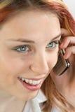 Telefonata dell'adolescente immagini stock