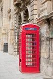 Telefonbås i Valletta, Malta Arkivbilder