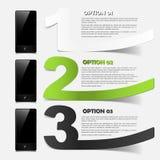Telefonbegrepp: realistiska designbeståndsdelar Arkivbild