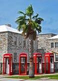 Telefonbås i Bermuda Arkivfoto