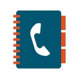 Telefonbuch lokalisiertes Ikonendesign Stockfotos