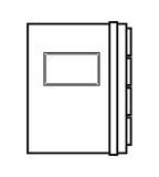 Telefonbuch lokalisiertes Ikonendesign Lizenzfreie Stockfotografie