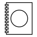 Telefonbuch lokalisiertes Ikonendesign Stockbilder