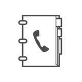 Telefonbuchikone Stockfotografie