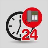 Telefoncall-center 24 Stunden Lizenzfreies Stockbild