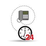 Telefoncall-center 24 Stunden Stockbild