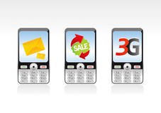 Telefone 2 de Mobil ilustração royalty free